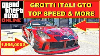 GTA 5 Online new Grotti Itali GTO Top Speed , new fastest Sportscar ? Top Speed , Laptime