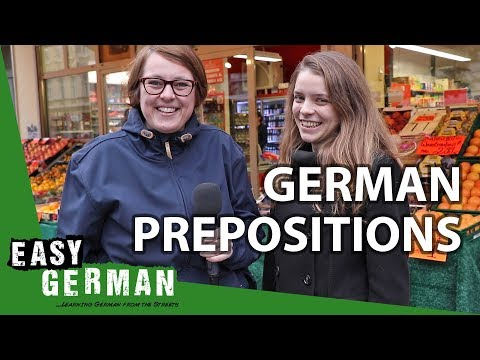 German Prepositions with Dative and Accusative (Wo ist Justyna?) | Super Easy German (120)