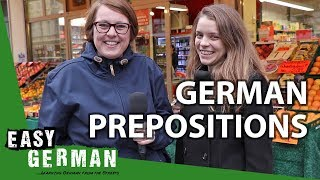 German Prepositions with Dative and Accusative (Wo ist Justyna?) | Super Easy German (119)
