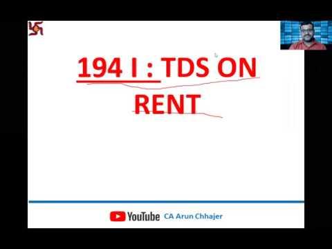 Section 194 I - TDS On Rent