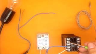 Підключення терморегулятора REX-C100 (SSR). Kulibin.su