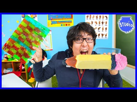 DIY EDIBLE SCHOOL SUPPLIES For Back To School Challenge!!