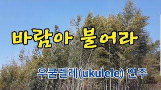 불어라바람아(한승기).우쿨렐레(ukulele)연주.들으…