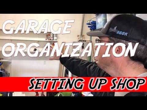 Garage Organization - Setting up shop