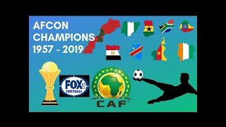 AFRICAN CUP OF NATIONS FINALS AND ALL WINNERS AFCON 1957 - 2019   TODOS CAMPEONES DE AFCON