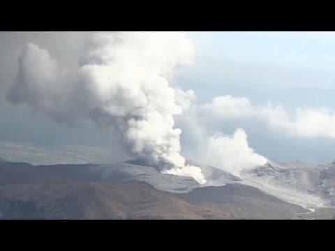 Japanese volcano Mount Aso erupts