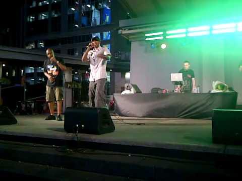Mr  Mischief @ HipHop Karaoke in Yonge Dundas Square, Toronto Sept 1 2011