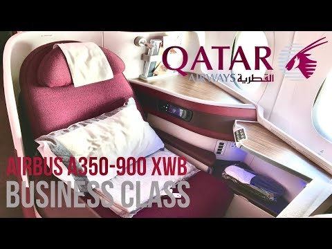 Qatar Airways Business Class Airbus A350 XWB New York JFK to Doha Review