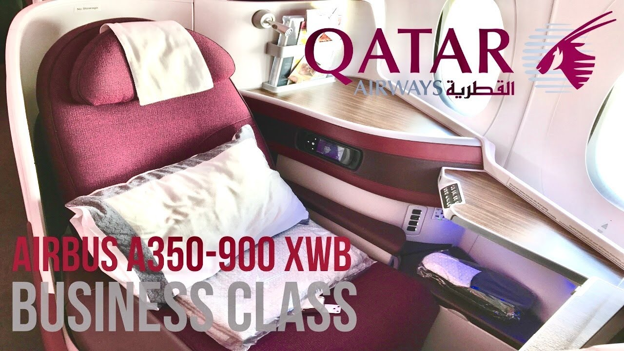 Qatar Airways Business Class Airbus A350 XWB New York JFK ...