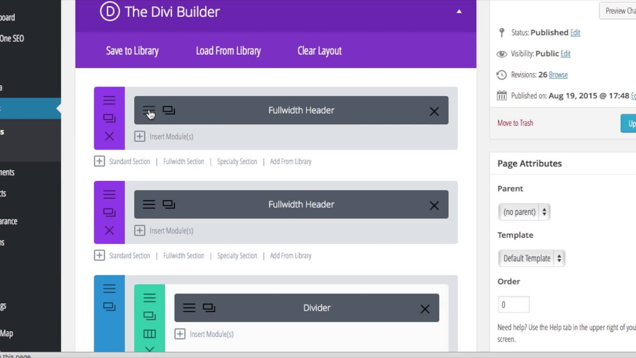 How to Build a One Page Navigation Menu Bar with Divi - YouTube