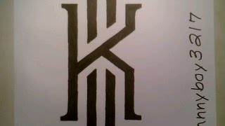 How To Draw Kyrie Irving Logo Sign Easy Step By Tutorial For Begainners Kids