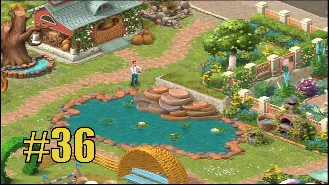 Good GARDENSCAPES NEW ACRES #36 Gameplay Story Playthrough | Area 8 Stable Area  Day 4