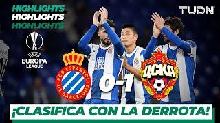 Highlights | Espanyol 0 - 1 CSKA Moscow | Europa League - J 6 - Grupo H | TUDN