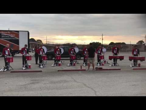 Tomball High School Band 2016 - Drumline Warm Up - 8 On A Hand