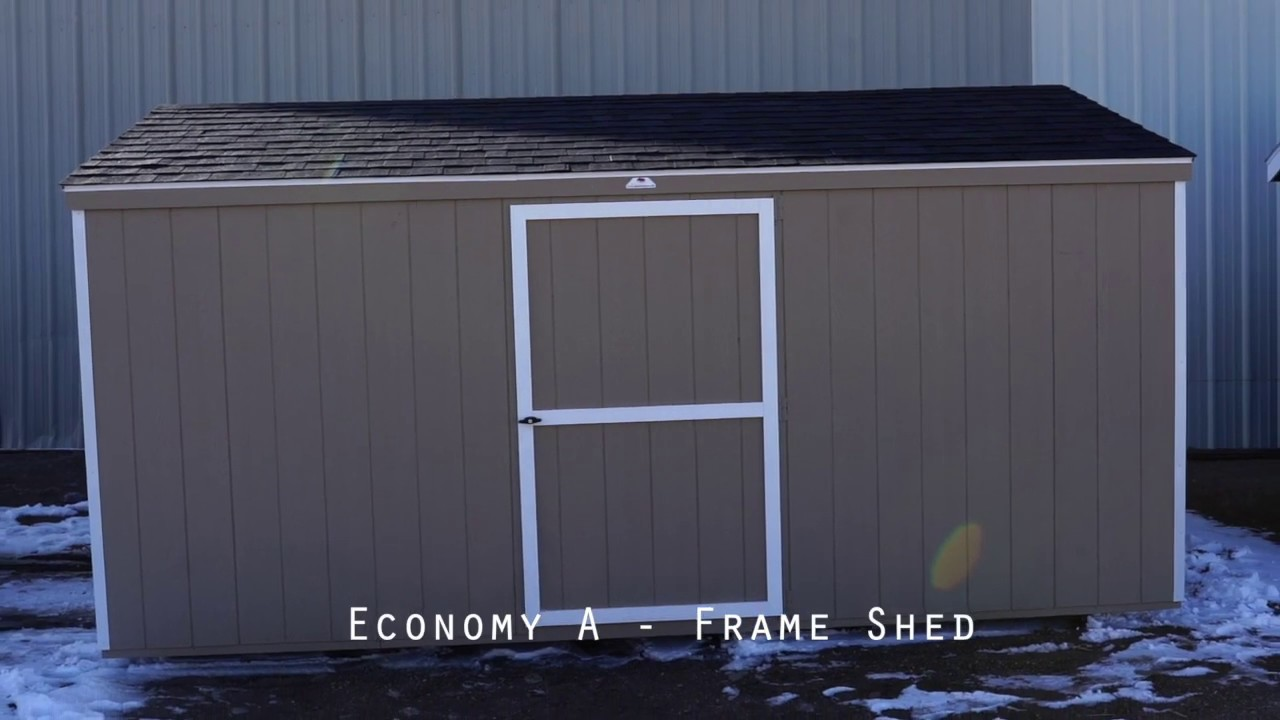 The Shed Yard - 10x16 Economy A Frame Shed
