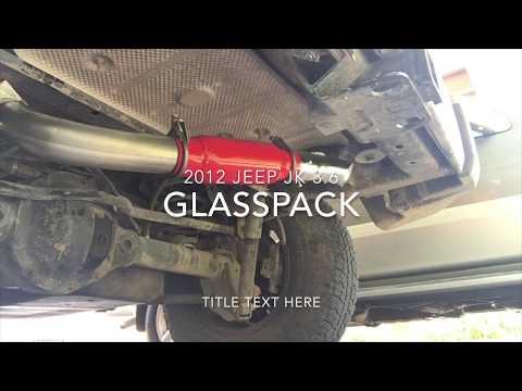 jeep exhaust 3.6l glasspack