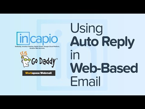How To Set Up A Workspace Webmail Auto-reply Message | GoDaddy | 2018.