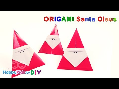 Origami Santa| Paper Crafts | Kid's Crafts And Activities | Happykids DIY