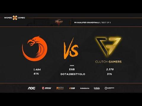 TNC vs Clutch Gamers Manila master ph qualifier Grandfinals game 1 (Bo5)