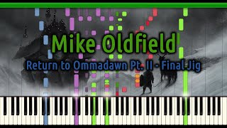 Mike Oldfield - Return to Ommadawn Part II - Final Jig [Synthesia]