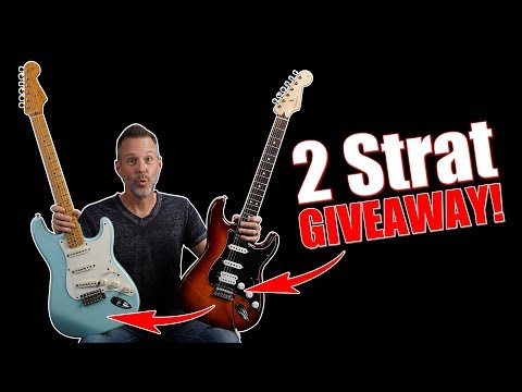 2 Strat GIVEAWAY 🎸🎸 + 3 Simple Steps to Playing Popular Songs (FREE Live Webcast)