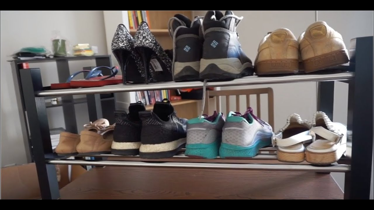 Ikea Tjusig Shoe Rack Assembly How Many Shoes Can Fit It Youtube