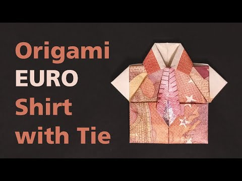 Money Origami Tutorial: Euro Shirt With Tie (Stefan Delecat)
