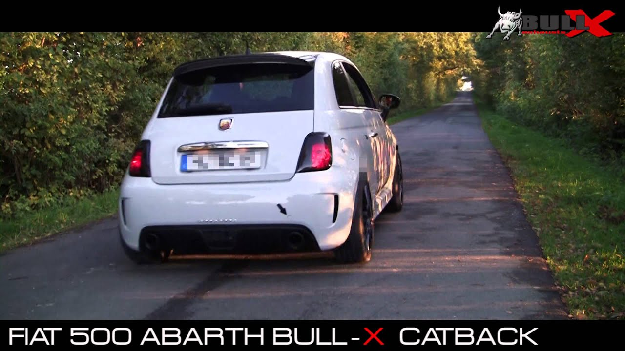 fiat 500 abarth exhaust sound 3 76mm auspuff abgasanlage. Black Bedroom Furniture Sets. Home Design Ideas