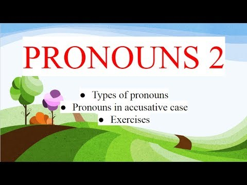 Albanian for beginners (accusative case of pronouns)