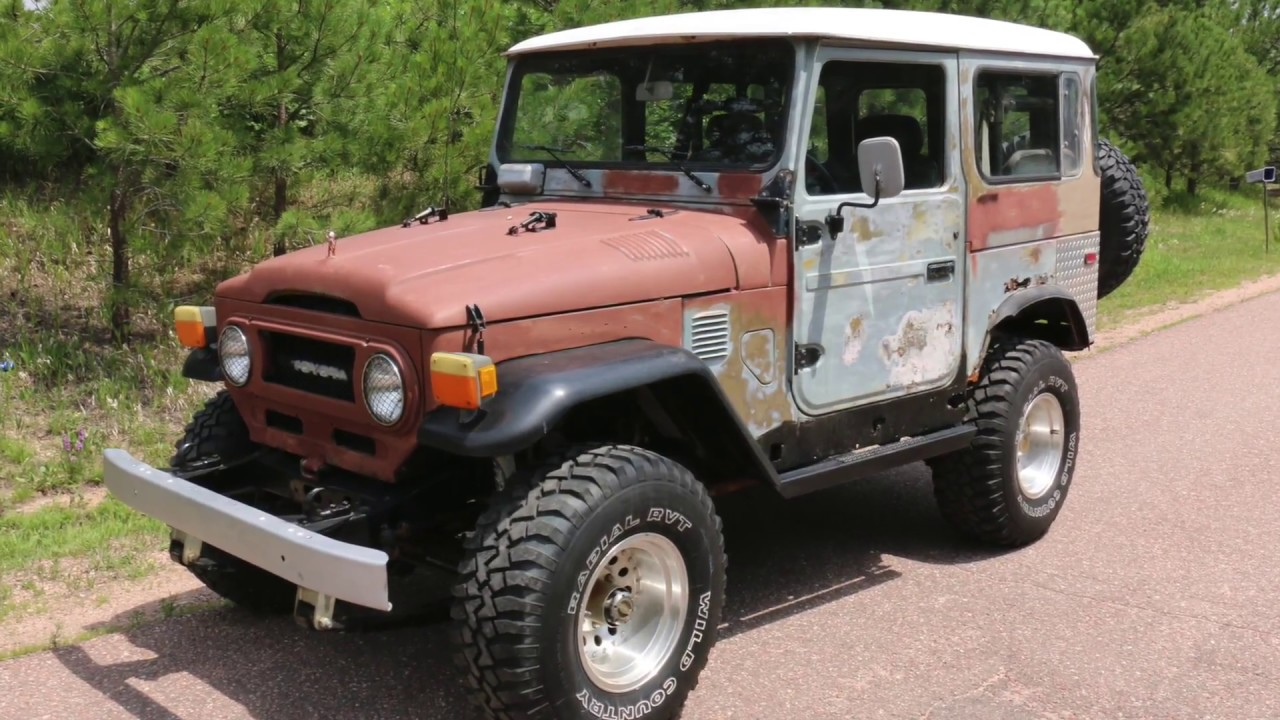Toyota Fj40 For Sale >> For Sale 1977 Toyota Land Cruiser Fj40 Wicked Patina Full Video