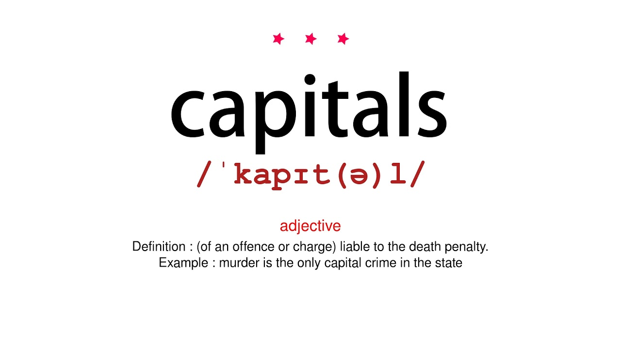 How to pronounce capitals - Vocab Today