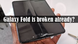 Samsung Galaxy Fold Screens are BREAKING