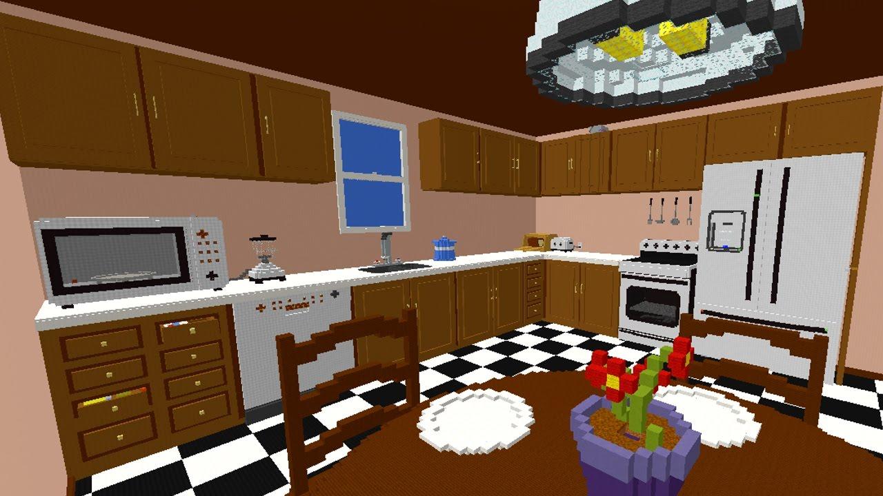 как сделать кухню в майнкрафт 1.7.2 #7