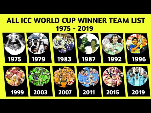ICC World Cup Winner Team List | Who To Win Every Team World Cup
