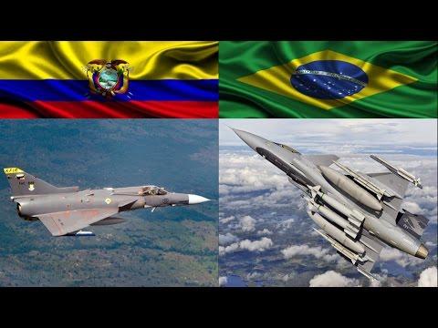 IAI Kfir C7 (Equador) vs Gripen NG (Brasil)