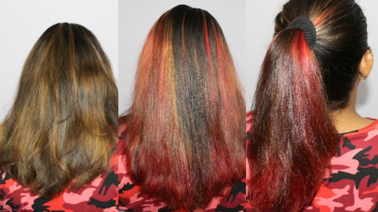 Red Hair Highlights At Home How To Highlight Hair Red At Home