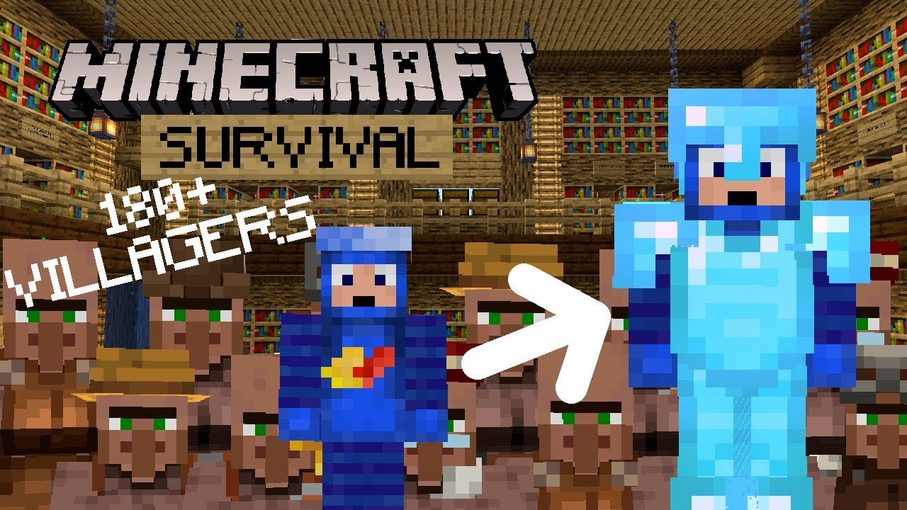 Biggest Trading Hall Ever! - Minecraft Survival Let's Play