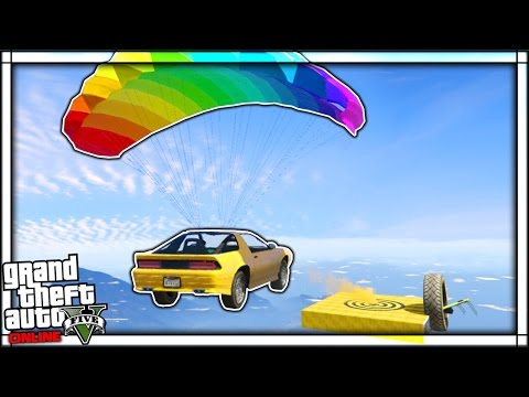 THE ULTIMATE STUNT CAR PARACHUTE RACE! | GTA 5 Online Funny Moments #2 (GTA V)