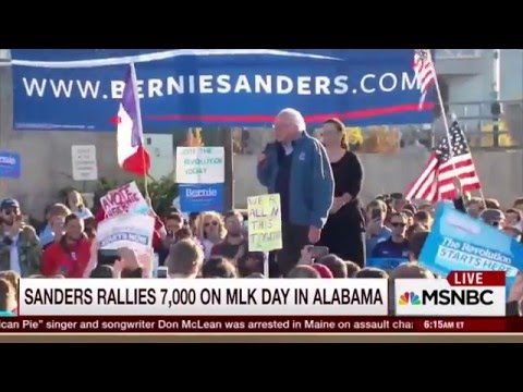 MSNBC 01-19-2016 Morning Joe BLOWN AWAY By Bernie Sanders
