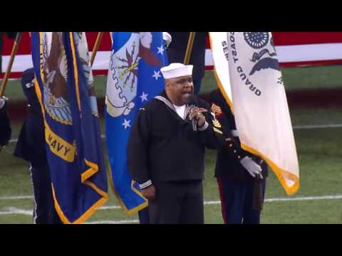 Goosebumps: Ret Naval Petty Officer, First Class, Generald Wilson sings the Star-Spangled Banner