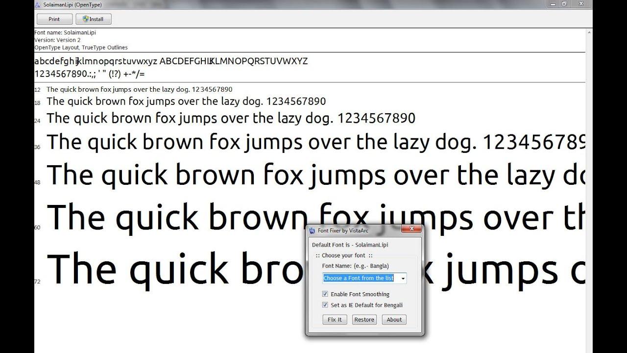 How to fix Bangla Font Problem (chorme,firefox, facebook,microsoft