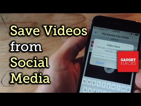 Save Facebook, Instagram, Snapchat, Twitter, & Vine Videos to Your iPhone [How-To]