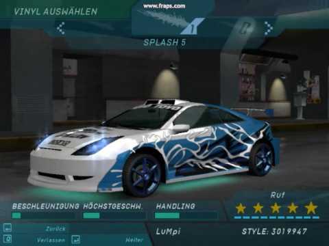 Need for Speed Underground 1 ''Celica tuning'' - YouTube