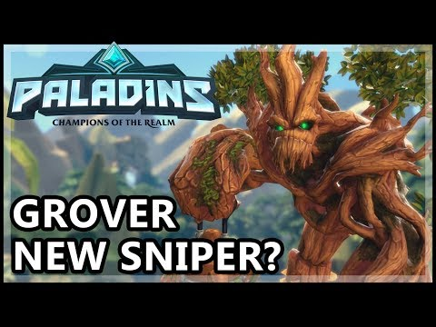 Paladins Grover Gameplay - Grover The Sniper? - Paladins Gameplay Grover Guide