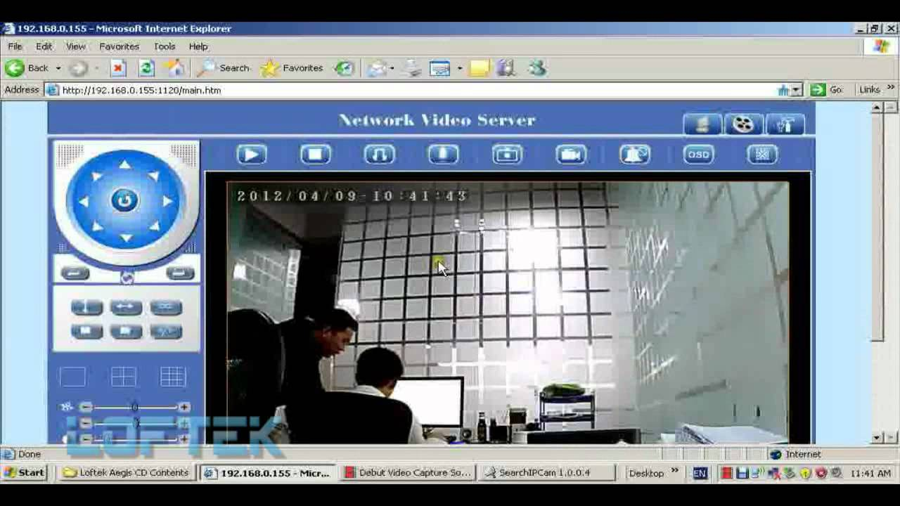loftek aegis how to login the ip camera set wireless