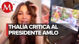 Thalía reacciona a recomendaciones de AMLO contra coronavirus