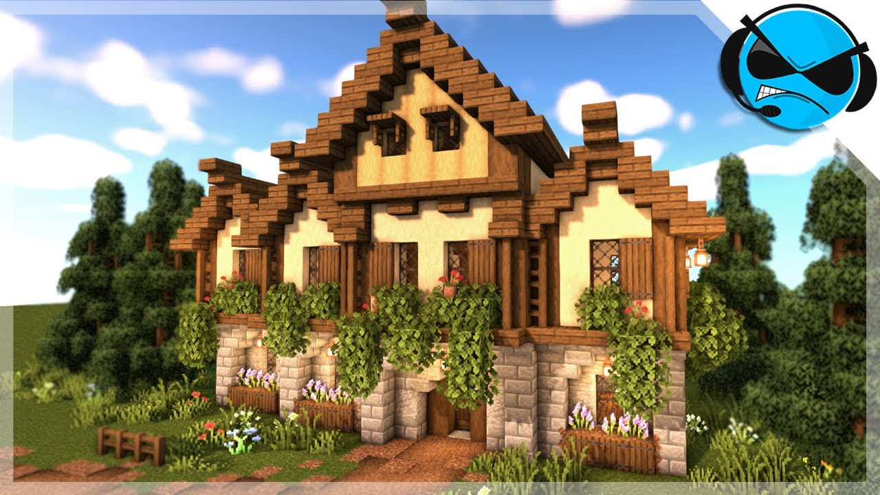 Minecraft How To Build A Medieval Large House Tutorial Minecraft 1 14 Build Tutorial Youtube