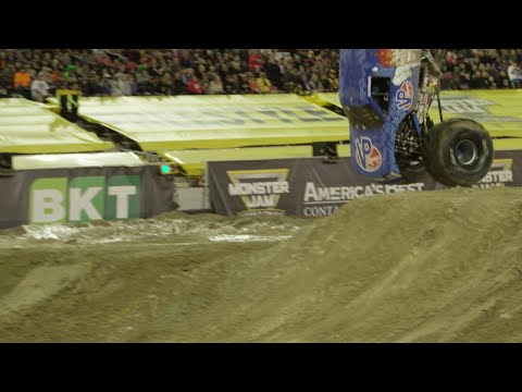 First ever Monster Truck front flip - Monster Jam World Finals 18 XVIII (2017) in Las Vegas
