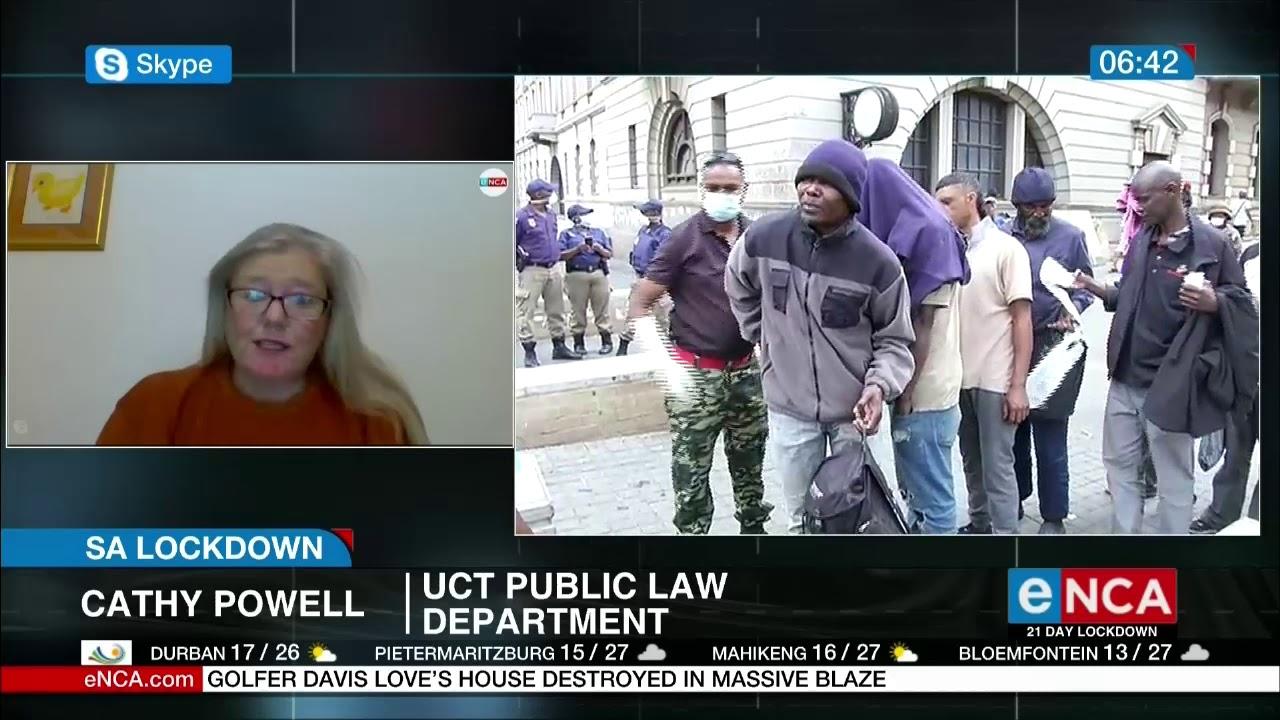 SA lockdown legalities