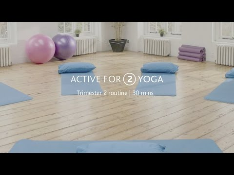 Active for 2: Pregnancy yoga workout for trimester 2